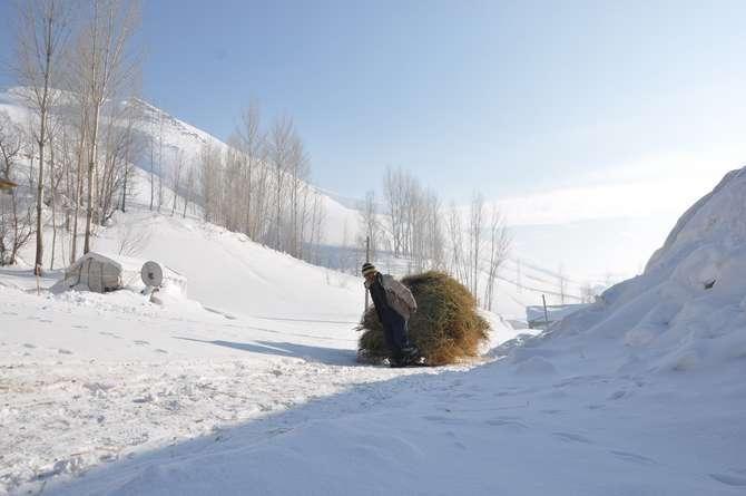 Yüksekova'da kar manzaraları galerisi resim 12