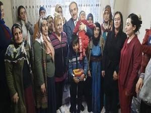 Başkan Epcim, 13 aileye misafir oldu