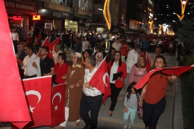 Hakkari'de Milli Birlik ve Demokrasi yürüyüşü galerisi resim 1