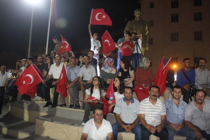 Hakkari'de Milli Birlik ve Demokrasi yürüyüşü galerisi resim 27