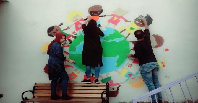 Cumhuriyet'in öğretmenleri okul renklendirdi galerisi resim 2
