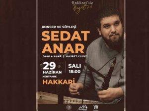 Hakkari'de Sedat Anar konseri
