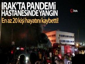 Irak'ta pandemi hastanesinde yangın