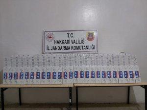 Şemdinli'de 9.500 paket sigara ele geçirildi