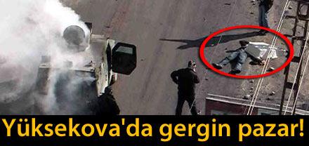 GEVERDE 2 POLİS, 1 GÖSTERİCİ YARALI