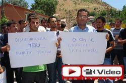 SINIRDA İLK PROTESTO GÖSTERİSİ
