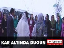 Hakkari'de kar altında düğün