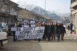 ŞEMDİNLİ DE 15 ŞUBAT PROTESTOSU