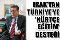 """IRAK'TAN """"KÜRTÇE EĞİTİM"""" DESTEĞİ"""