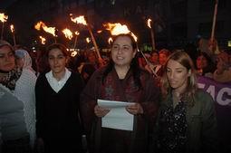 TECAVÜZ OLAYLARI PROTESTO EDİLDİ