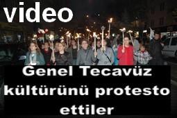 KADINLARDAN TECAVÜZ PROTESTOSU