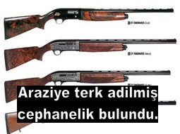ARAZİDE 470 ADET TÜFEK BULUNDU