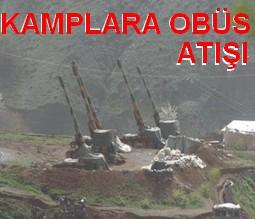 ÇELİ`DE PKK KAMPLARINA OBÜS ATIŞI