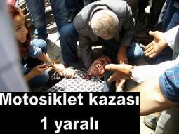 YAŞLI ADAMA MOTOSİKLET ÇARPTI...