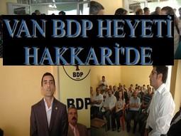 VAN BDP HEYETİNDEN DESTEK ZİYARETİ