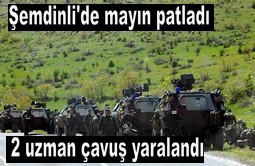ŞEMDİNLİ'DE MAYIN PATLADI 2 YARALI