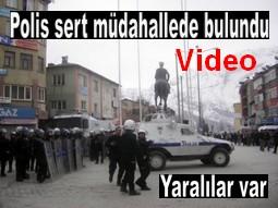 POLİS SERT MÜDAHALEDE BULUNDU