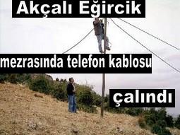 550 METRE TELEFON KABLOSU ÇALINDI
