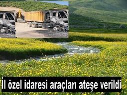 PKK BERÇELAN`DA 3 ARACI ATEŞE VERDİ