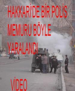 POLİS MEMURU BÖYLE YARALANDI