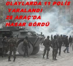 HAKKARİ'DE 11 POLİS YARALANDI