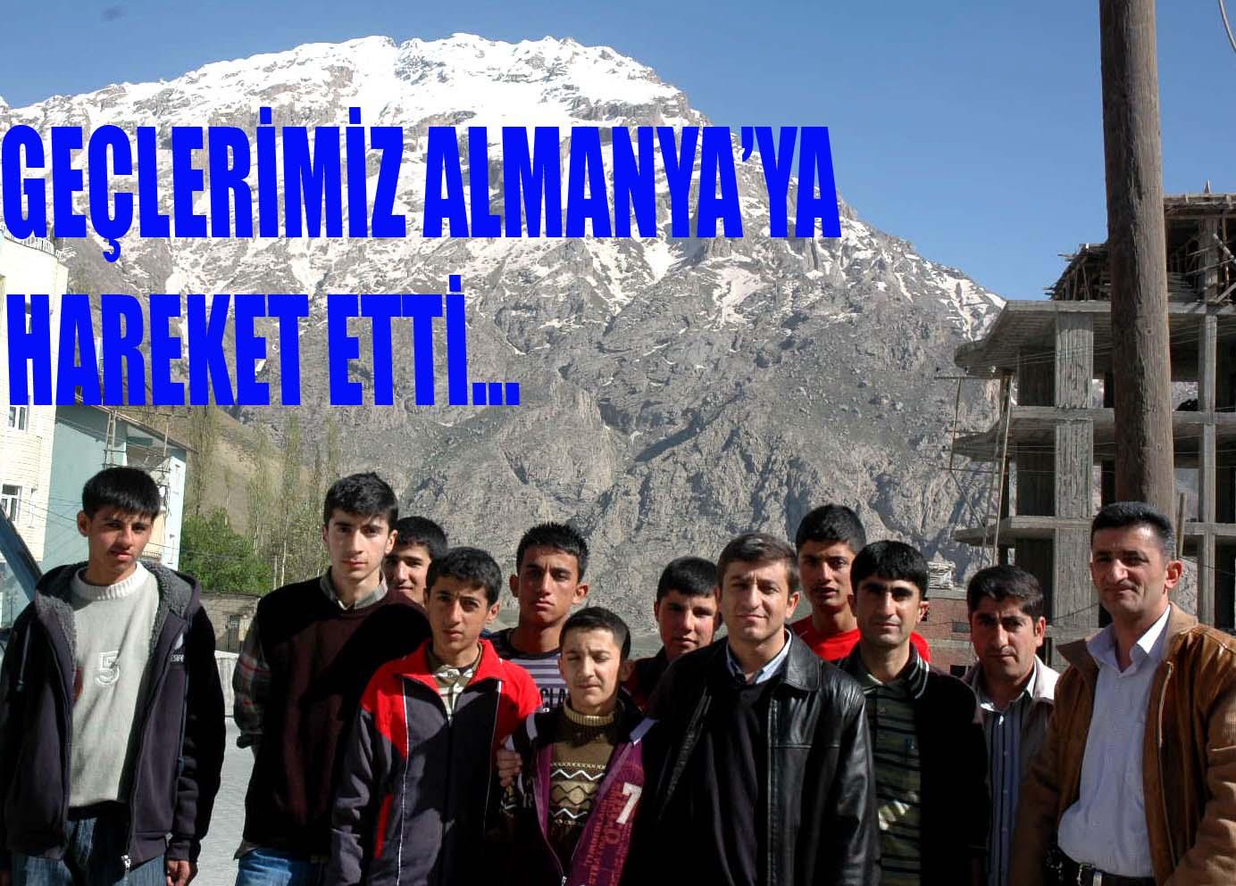 GENÇLERİMİZ ALMANYA'YA HAREKET ETTİ