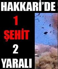 MAYIN PATLADI 1 ŞEHİT 2 YARALI