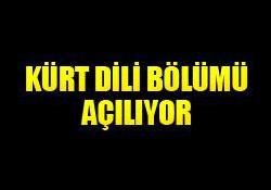 MARDİN'E KÜRT DİLİ BÖLÜMÜ