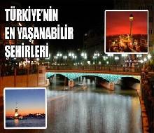 Türkiye'nin yaşanabilir şehirleri