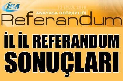 İl il 2010 Referandum sonuçları