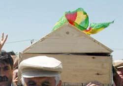 PKK ÜYESİNİN CENAZESİ HAKKARİ DE