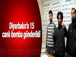 Diyarbakır'a 15 canlı bomba gönderildi