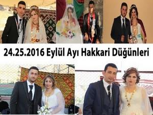 24-25-2016 Eylül Ayı Hakkari Düğünleri
