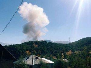 Karakoldaki yangın için köy halkı seferber oldu!