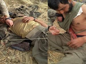 Askerden yaralı PKK'liye ilk müdahale