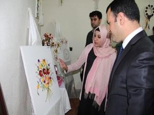 Aile destek merkezi el sanatları sergisi açtı!