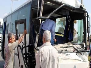 İşçi servisi kaza yaptı: 10 yaralı!