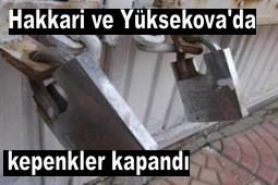 HAKKARİ DE ESNAF KEPENKLER KAPATTI