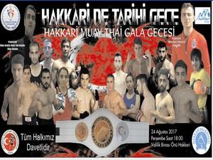 Hakkari'de Muay Thai gala gecesi düzenleniyor!