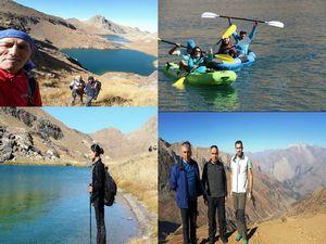 Dağcılar Sat göllerinde kano turu yaptı!