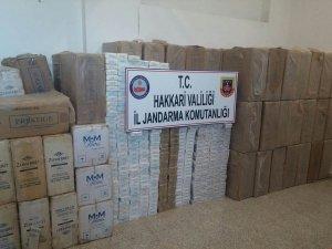 830 paket kaçak sigara ele geçirildi