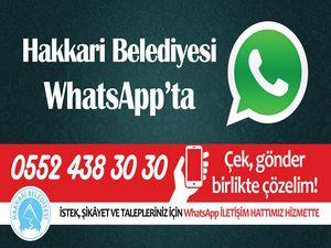 Hakkari belediyesi WhatsApp iletişim hattı kurdu