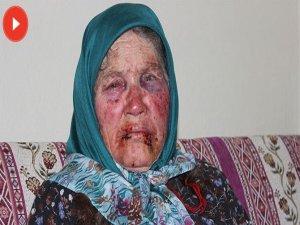 Yaşlı kadın öldüresiye dövüldü!
