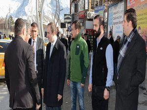 Başkan Epcim, esnafları ziyaret etti