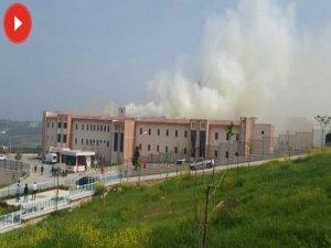 Hastanede korkutan yangın
