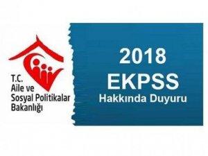 EKPSS Kura Başvuru duyurusu