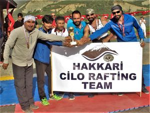 Hakkari rafting'de Türkiye üçüncüsü oldu