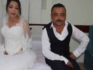 Diyaliz merkezinde tanıştılar, evlendiler