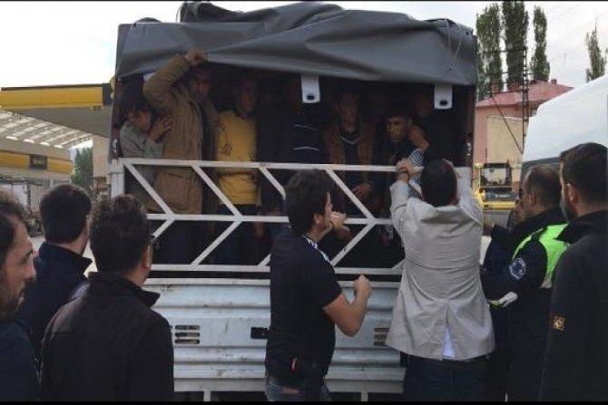 57 yabancı uyruklu kaçak şahıs yakalandı