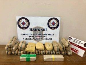 Yüksekova'da 13 kilo 200 gram eroin ele geçirildi